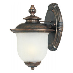 Maxim - Maxim Cambria EE One Light Chocolate Frost Crackle Glass Wall Lantern - This One Light Wall Lantern is part of the Cambria Ee Collection and has a Chocolate Finish and Frost Crackle Glass. It is Wet Rated, Outdoor Capable, and Energy Star Compliant.