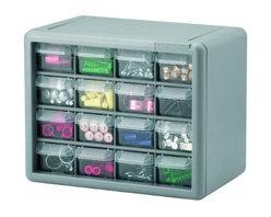 AKRO MILS INC - 10716 16-Drawer Storage Cabinet - Hardware Storage Cabinets
