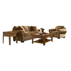 Broyhill - Broyhill Cambridge Three Seat Sofa and Chair Set with Attic Heirlooms Wood Stain - Broyhill - Sofa Sets - 50543Q150540Q1Set -    Broyhill Cambridge Three Seat Sofa with Attic Heirlooms Wood Stain (included quantity: 1) About This Product: