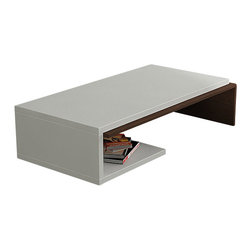 Decortie - BEND COFFEE TABLE, White - Wenge - BENT Coffee Table is a modern piece for a contemporary home or interior. Combining a display space with a coffee table, this piece is a stylish centre-piece for your living room. Finished in White - Wenge , White - Oak.