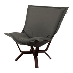 Howard Elliott - Howard Elliott Sterling Charcoal Milan Puff Chair - Milan puff chair sterling charcoal