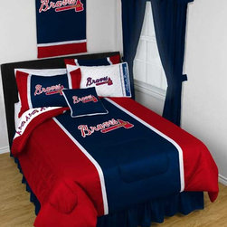 "MLB Atlanta Braves Bedding and Room Decorations - Whether game day or a regular night's sleep, make your room shout ""A true Atlanta Braves fan lives and sleeps here!"" We have a wide range of bedding and room decor products that will make quite an impression. Click the link below to view all items available for purchase."