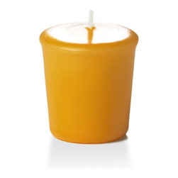 Neo-Image Candlelight Ltd - Set of 18 - Yummi 15 hr Harvest Gold Votive Candles - Our unscented 15 hour Votive Candles are ideal when creating a beautiful candlelight arrangement for the home or wedding decor.  Available in 44 trendy candle colors hand over dipped with white core to match and compliment your home decor or wedding centerpiece decoration.