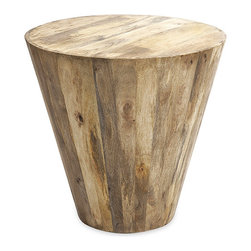 Mango Wood Side Table - Simplicity at its most natural: the quiet charm of wood comes to life with this versatile side table. Crafted out of solid mango wood, it can be placed anywhere you wish to provide a touch of the rustic modern.