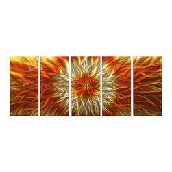 Matthew's Art Gallery - Metal Wall Art Abstract Modern Contemporary Sculpture Decor Orange Electric - Name: Ocean Colors