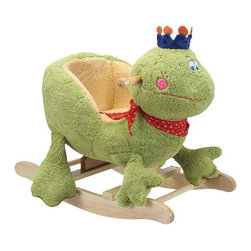 Fifthroom - Plush Prince Charming Frog Rocker - Your little Prince Charming will feel like a king in his very own throne.  For little ones 18 months & up.  Clean up is easy with mild soap and water.