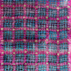 Woven Concpets - Henley, Charcoal Berry, 5'x7' - Master weavers artfully re-spin and hand-knot the finest remnants of sustainable sari-silk to create the breakthrough Rumi Silk Collection™. These remarkable patterns, conveyed in fresh colors, dictate a new aesthetic for modern rugs. Speaking to the desires of today's design savvy buyer, the Rumi Silk Collection™ conveys a balanced sensibility through simplicity in design and luxury texture.