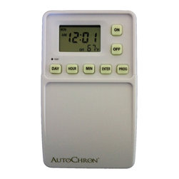 SWE Inc - AutoChron Programmable Wall Switch Timer - The AutoChron wall switch timer will save money by allowing your light and fans to turn on and off automatically through a standard toggle switch. These fully programmable timers can save heating costs and make your house more secure.