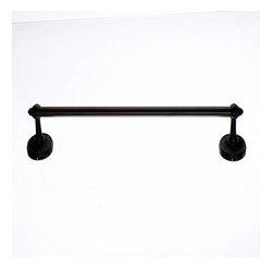 Top Knobs - Top Knobs: Tuscany Bath 18 Inch Single Towel Rod - Oil Rubbed Bronze - Top Knobs: Tuscany Bath 18 Inch Single Towel Rod - Oil Rubbed Bronze