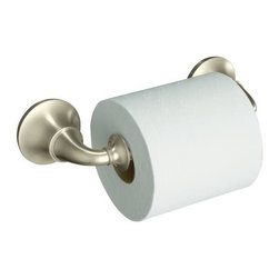 KOHLER - KOHLER K-11274-BN Traditional Toilet Paper Holder - KOHLER K-11274-BN Forte Traditional Toilet Paper Holder in Vibrant Brushed Nickel