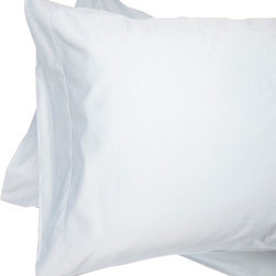 Alluna - Blue 500-Thread Count Best Fit Pillow Case - Set of Two - Drift to Dreamland with this set that boasts an extra-soft 500-thread count and a 6-inch capture top opening that keeps your pillow in place.   Includes two pillow cases 100% cotton 500-thread count Machine wash Imported
