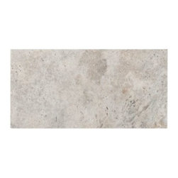 Argento Brushed Travertine Tile -