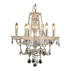 Elegant - Giselle Gold Royal Cut Dining Room Chandelier - Classic, Old World look in an affordable price range makes this Giselle Collection impressive. This collection has a stunning crystal centerpiece with chrome or gold frames.