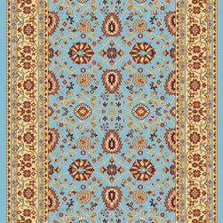 "Dynamic Rugs - Dynamic Rugs Yazd 2803-510 (Blue Cream) 7'10"" x 10'10"" Rug - YAZD is a new collection of rugs in beautiful patterns and colorations. Included are traditional, semi-classic designs with primary colors of sage, champagne, taupe, navy, red, cream, black, and ivory, complimented with shades of brown and light blue. Dense weaving enhances pattern definition and design clarity. The YAZD Collection is densely woven on machine looms in Turkey with 100% high quality heat-set polypropylene pile that is anti-static and colorfast. These rugs have a delustered finish and are stain resistant, colorfast, durable and easy to maintain."