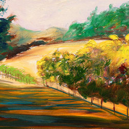 "Ann Rea - Bring home Howell Mountain with ""Sketching Autumn"" by Ann Rea, an original oil p - ""This is a sketch of color shifting towards autumn."" -Ann Rea"