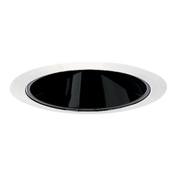 Juno Lighting Group - Deep Cone for 5-Inch Recessed Housing - 206B-WH - This Juno recessed light features a deep cone and black Alzak� finish with white trim ring. The extra depth allows the bulb to be hidden from sight. It has a 4-1/2-inch aperture. Dry location rated.