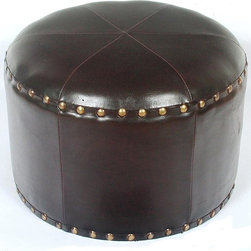 International Caravan - Mini Stool in Dark Chocolate - Made from premium stitched faux leather. Minimal assembly required. 16 in. W x 16 in. D x 11 in. H (8 lbs.)This mini stool makes a perfect accent piece to any chair our lounger in the house.