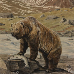 Magic Murals - Alaska Brown Bear Wallpaper Wall Mural - Self-Adhesive - Multiple Sizes - Magic - Alaska Brown Bear Wall Mural