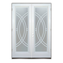 Glass Front Entry Doors Frosted Glass Obscure Arcs Ii