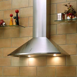 """Sirius - SUE390x 35.4"""" Traditional Wall-Mounted Range Hood - This traditionally style range hood has an attractive curve on the front Its 295CFM motor has an aluminum die-cast motor housing The anodized aluminum filter keeps the air in your kitchen clean and free from unwanted odors"""