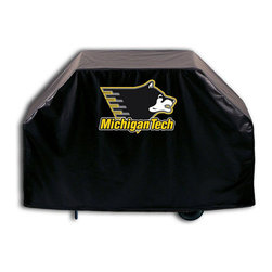 """Holland Bar Stool - Holland Bar Stool GC-MITech Michigan Tech Grill Cover - GC-MITech Michigan Tech Grill Cover belongs to College Collection by Holland Bar Stool This Michigan Tech grill cover by HBS is hand-made in the USA; using the finest commercial grade vinyl and utilizing a step-by-step screen print process to give you the most detailed logo possible. UV resistant inks are used to ensure exeptional durablilty to direct sun exposure. This product is Officially Licensed, so you can show your pride while protecting your grill from the elements of nature. Keep your grill protected and support your team with the help of Covers by HBS!"""" Grill Cover (1)"""