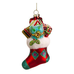 Silk Plants Direct - Silk Plants Direct Glitter Glass Stocking Ornament (Pack of 12) - Silk Plants Direct specializes in manufacturing, design and supply of the most life-like, premium quality artificial plants, trees, flowers, arrangements, topiaries and containers for home, office and commercial use. Our Glitter Glass Stocking Ornament includes the following: