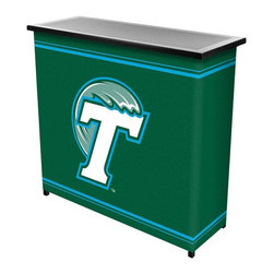 Trademark Global - Trademark Global NCAA Logo 2 Shelf Steel Portable Bar with Case Multicolor - LRG - Shop for Bars and Bar Sets from Hayneedle.com! Pay homage to your prime drinkin' days at the Trademark Global NCAA Logo Print 2 Shelf Steel Portable Bar with Case. This super-portable bar is perfect for the parking lot tailgate the backyard or in an apartment where space is an issue. It's made entirely of metal with an easy folding collapsible design. There's a spacious bar top for beers and two shelves below for bottles and supplies. It's wrapped in a full-coverage full-color logo wrap of your favorite NCAA team. Easy carrying case included. About Trademark Global Inc.Located in Lorain Ohio Trademark Global offers a vast selection of items for your home and lifestyle. Whether you need automotive products collectibles electronics general merchandise home and garden items home decor house wares outdoor supplies sporting goods tools or toys Trademark Global has it at a price you can afford. Decor items and so much more are the hallmark of this company.