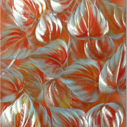 Pure Art - Tropical Leaves Oasis Handcrafted Aluminum Wall Art - Capture the feeling of a calm and alluring environment by accenting any area with the Tropical Leaves Oasis Handcrafted Aluminum Wall Art. Create a peaceful and serene haven for all your guests to sit and stay for a coming together of the senses. Show your adventurous and compelling style for the living room in your home. Intrigue the eyes of those entering the foyer of your home by hanging above that stylish hall table. Your visitors are sure to express their interest and surprise at the overall beauty this metal wall art piece has brought to the space.Made with top grade aluminum material and handcrafted with the use of special colors, it is a very appealing piece that sticks out with its genuine glow. Easy to hang and clean.