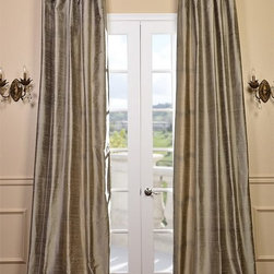 Cashmere Textured Dupioni Silk Curtain - Dupioni silk has been around for centuries. The beautiful luster and sheen of this textured silk is timeless & will work in any décor. Whether your home is classic & traditional or modern & contemporary our Textured Dupioni Silk curtains will add color & beauty to any space.