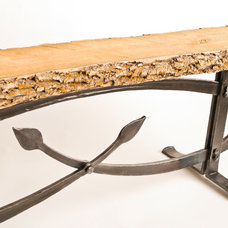 Traditional Outdoor Benches by Cloverdale Forge