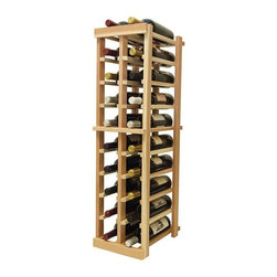 Wine Cellar Innovations - 3 ft. 2-Column Bottle Wine Rack (Premium Redwood - Light Stain) - Choose Wood Type and Stain: Premium Redwood - Light Stain. Bottle capacity: 20. Two column wine rack. Versatile wine racking. Custom and organized look. Beveled and rounded edges ensures wine labels will not tear when the bottles are removed. Can accommodate just about any ceiling height. Wine rack: 9.69 in. W x 13.5 in. D x 35.94 in. H (8 lbs.). Optional base platform: 9.69 in. W x 13.38 in. D x 3.81 in. H (5 lbs.). Vintner collection. Made in USA. Warranty. Assembly Instructions. Rack should be attached to a wall to prevent wobble