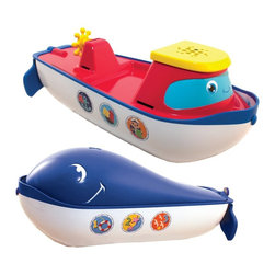 SwimWays - SwimWays Flip Float Multicolor - 12807 - Shop for Toys from Hayneedle.com! Two toys in one! The SwimWays Flip Float brings all the fun to the table. Made to last from durable ABS plastic with the twist of a wrist your child can transform this lovable toy from a tugboat to a whale. Perfect for kids 18 months and up it spouts water from the blowhole of the whale while the tugboat lets them practice their counting and ABCs.About SwimWays Based in Virginia Beach Virginia SwimWays has one mission: make free time more fun through innovation. They provide your family with pool toys floats decorations games and even swim training gear to make sure you have no ordinary day at the pool. With over 35 000 storefronts and offices in Hong Kong and the United States SwimWays diverse staff is dedicated to bringing you the best. Safety is their priority helping to teach kids to swim for over 40 years with an innovative line of swim-training products. SwimWays is here to help and stands by their products every step of the way.