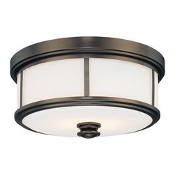 Minka Lavery - Minka Lavery 4365 2 Light Flush Mount Ceiling Fixture from the Harvard Court Col - Two Light Flush Mount Ceiling Fixture from the Harvard Court CollectionFeatures: