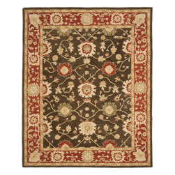 Safavieh - Safavieh Anatolia AN554A, Olive, 9'x12' Rug - Anatolia Collection brings old world sophistication and quality in new tufted rugs. This collection captures the authentic look and feel of the decorative rugs made in the late 19th century in this region. Hand spun wool and an ancient pot dying technique together with a densely woven thick pile, gives Anatolia rugs their authentic finish.