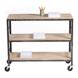 Design Workshop Rolling Cart, Low, Wide Tower - Move your art supplies or reference materials right where you need them with this handy Design Workshop rolling cart from West Elm.