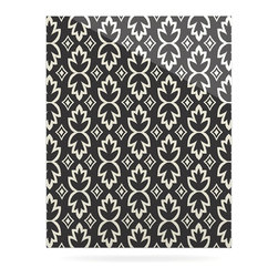 "Kess InHouse - Amanda Lane ""Black Cream Bohemia"" Dark Pattern Metal Luxe Panel (16"" x 20"") - Our luxe KESS InHouse art panels are the perfect addition to your super fab living room, dining room, bedroom or bathroom. Heck, we have customers that have them in their sunrooms. These items are the art equivalent to flat screens. They offer a bright splash of color in a sleek and elegant way. They are available in square and rectangle sizes. Comes with a shadow mount for an even sleeker finish. By infusing the dyes of the artwork directly onto specially coated metal panels, the artwork is extremely durable and will showcase the exceptional detail. Use them together to make large art installations or showcase them individually. Our KESS InHouse Art Panels will jump off your walls. We can't wait to see what our interior design savvy clients will come up with next."