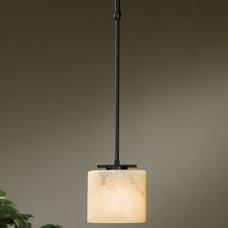 Pendant Lighting Simple Ellipse Adjustable Pendant by Hubbardton Forge