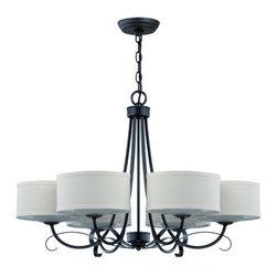 Jeremiah Lighting - Jeremiah Lighting 35726 Ridgelea 6 Light Mid-Sized Chandelier - Features:
