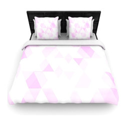 "Kess InHouse - CarolLynn Tice ""Aspire"" Geometric Pink Cotton Duvet Cover (Twin, 68"" x 88"") - Rest in comfort among this artistically inclined cotton blend duvet cover. This duvet cover is as light as a feather! You will be sure to be the envy of all of your guests with this aesthetically pleasing duvet. We highly recommend washing this as many times as you like as this material will not fade or lose comfort. Cotton blended, this duvet cover is not only beautiful and artistic but can be used year round with a duvet insert! Add our cotton shams to make your bed complete and looking stylish and artistic!"