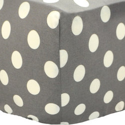 New Arrivals Inc. - Vintage Gray Dottie Crib Sheet - Urban Zoo Crib Sheet