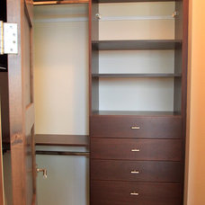 Contemporary Closet by Pinnacle Mountain Homes