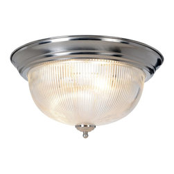Premier Faucet - Dome Halophane 15 inch Ceiling Fixture - Polished Brass - AF Lighting 558732 Halophane Dome Ceiling Fixture, Brushed Nickel, 15in. D.