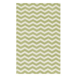 """Loloi Rugs - Loloi Rugs Zoey Collection - Green, 5'-0"""" x 7'-0"""" - Zoey is a delightful collection of lighthearted, cheerful patterns in pinks, blues and greens that are perfect for young kids or the young at heart. Power loomed in China of super soft polyester microfiber, Zoey rugs are durable, yet soft enough for infants and toddlers to cozy up to."""