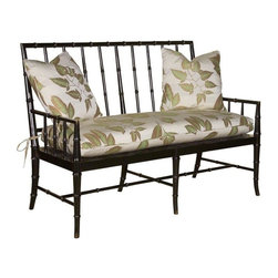 EuroLux Home - New Settee Faux Bamboo Spindles Cane Seat - Product Details