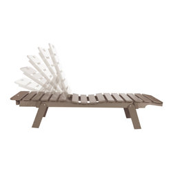Eagle One - Eagle One Cafe Chaise Lounge With Wheels In Driftwood - Add these easy to move optional wheels to your Cafe Chaise Lounge. Also compliment your furniture with comfort by adding Sunbrella's eye-catching cushions.