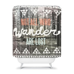 DENY Designs Wesley Bird Wander Shower Curtain - If you're a wa-wa-wa-wa-wanderer, you'll appreciate the style of the DENY Designs Wesley Bird Wander Shower Curtain. Featuring a serene forest landscape, this shower curtain encourages the wanderer in you with colorful, stylized text in varying fonts.About DENY DesignsDenver, Colorado based DENY Designs is a modern home furnishings company that believes in doing things differently. DENY encourages customers to make a personal statement with personal images or by selecting from the extensive gallery. The coolest part is that each purchase gives the super talented artists part of the proceeds. That allows DENY to support art communities all over the world while also spreading the creative love! Each DENY piece is custom created as it's ordered, instead of being held in a warehouse. A dye printing process is used to ensure colorfastness and durability that make these true heirloom pieces. From custom furniture pieces to textiles, everything made is unique and distinctively DENY.