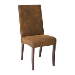 Zentique - Zentique Leather Dining Chair-Microfiber - Microfiber leather dining chair by Zentique.