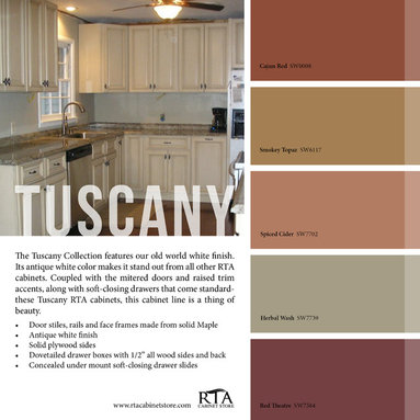 ... coordinate with our Tuscany Maple cabinet line of RTA Kitchen Cabinets