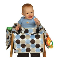 Leachco - Leachco Diner Liner Plush Booster Chair Liner in Boy Dot - The Diner Liner provides germ protection, stand-up restraint, and slip prevention all in one portable product. Includes safety seat belt to keep baby upright and secure.