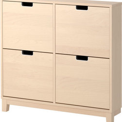 Sarah Fager - STÄLL Shoe cabinet with 4 comparment - Shoe cabinet with 4 comparment, birch